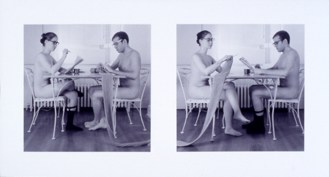 """The Inappropriate Nude 7"""" x 13"""" Gelatin Silver Print 2001"""